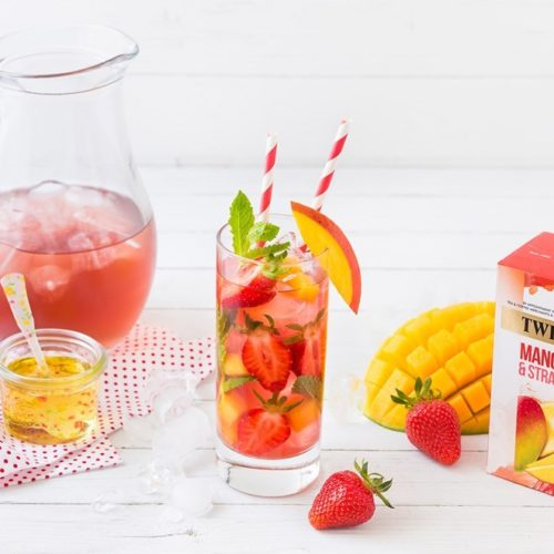 mango strawberry iced tea